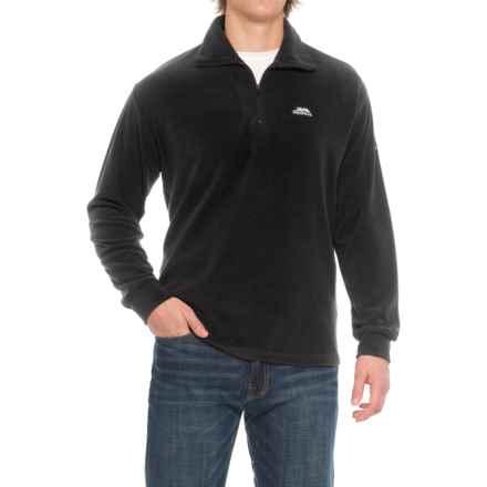 Trespass Masonville Fleece Jacket - Zip Neck (For Men) in Black - Closeouts
