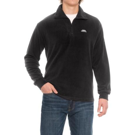 Trespass Masonville Fleece Jacket - Zip Neck (For Men) in Black