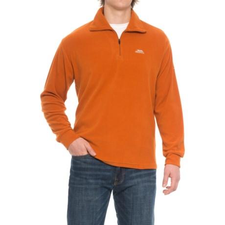 Trespass Masonville Fleece Jacket - Zip Neck (For Men) in Burnt Orange