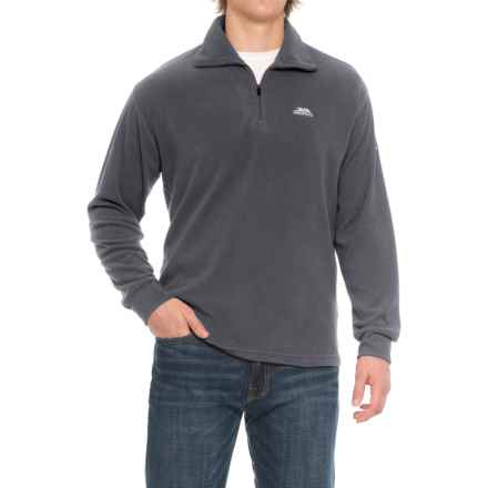 Trespass Masonville Fleece Jacket - Zip Neck (For Men) in Flint - Closeouts