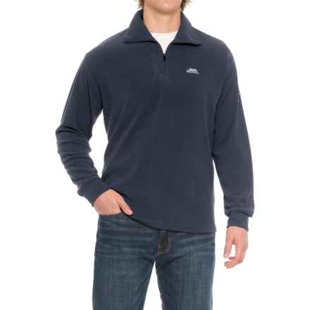Trespass Masonville Fleece Jacket - Zip Neck (For Men) in Navy Blue - Closeouts