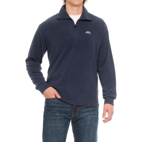 Trespass Masonville Fleece Jacket - Zip Neck (For Men) in Navy Blue