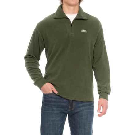 Trespass Masonville Fleece Jacket - Zip Neck (For Men) in Olive - Closeouts