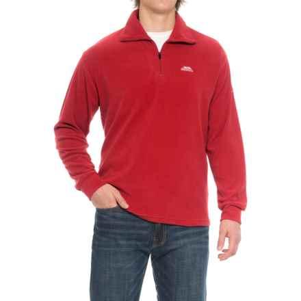 Trespass Masonville Fleece Jacket - Zip Neck (For Men) in Red - Closeouts