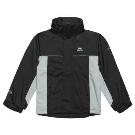 Trespass Mooki Rainwear Jacket - Waterproof (For Little and Big Boys) in Black - Closeouts