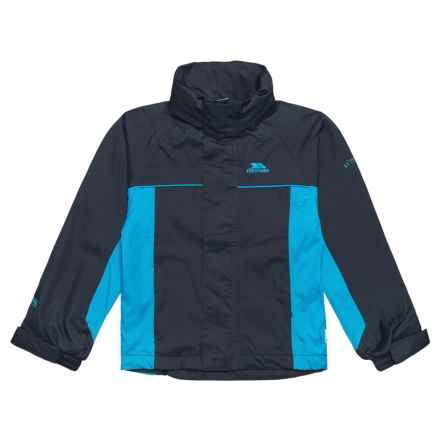 Trespass Mooki Rainwear Jacket - Waterproof (For Little and Big Boys) in Navy Blue - Closeouts