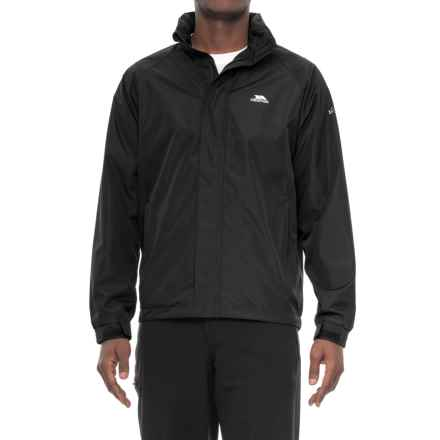 Trespass Nabro II Rain Jacket (For Men) in Black - Closeouts