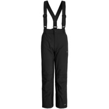 Trespass Nando Glacier Snow Pants - Waterproof, Insulated (For Little Girls) in Black - Closeouts