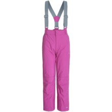 Trespass Nando Glacier Snow Pants - Waterproof, Insulated (For Little Girls) in Bubblegum - Closeouts