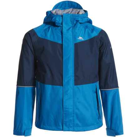 Trespass Ossie Rain Jacket (For Little and Big Kids) in Blue - Closeouts