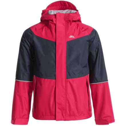 Trespass Ossie Rain Jacket (For Little and Big Kids) in Raspberry - Closeouts