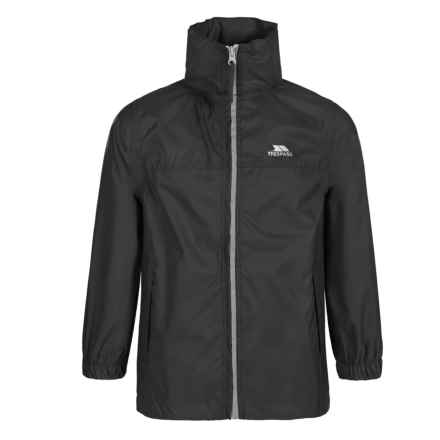 Trespass Packup Rain Jacket - Waterproof (For Little and Big Kids) in Black - Closeouts