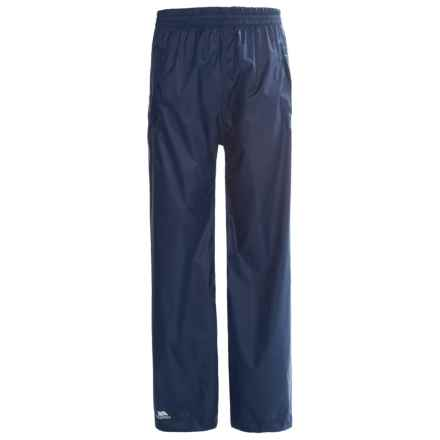 Trespass Packup Rain Pants (For Little and Big Kids) in Navy - Closeouts