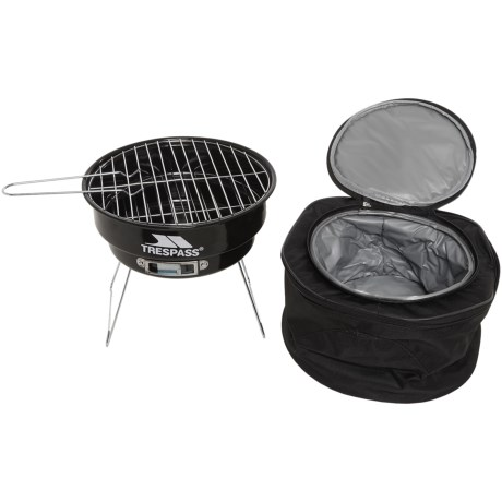 Trespass Portable Barbecue Grill Set in Black