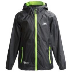 Trespass Qikpac Jacket - Waterproof (For Little and Big Kids) in Black