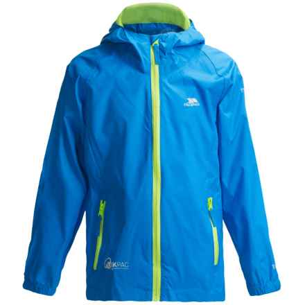 Trespass Qikpac Jacket - Waterproof (For Little and Big Kids) in Cobalt - Closeouts