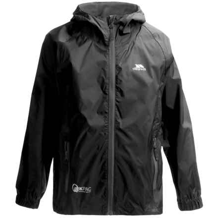 Trespass Qikpac Jacket - Waterproof (For Little and Big Kids) in Flint - Closeouts