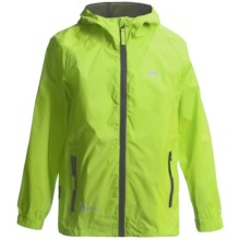 Trespass Qikpac Jacket - Waterproof (For Little and Big Kids) in Leaf - Closeouts