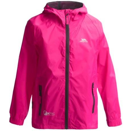 Trespass Qikpac Jacket - Waterproof (For Little and Big Kids) in Sasparilla