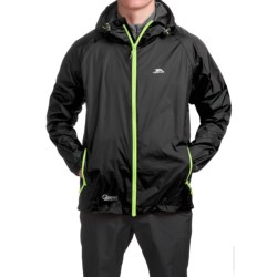 Trespass Qikpac Jacket - Waterproof (For Men and Women) in Black