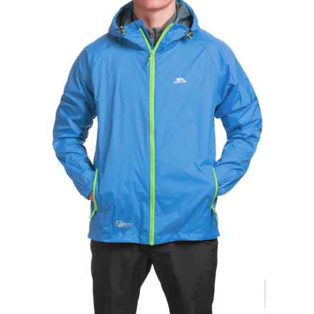 Trespass Qikpac Jacket - Waterproof (For Men and Women) in Cobalt - Closeouts
