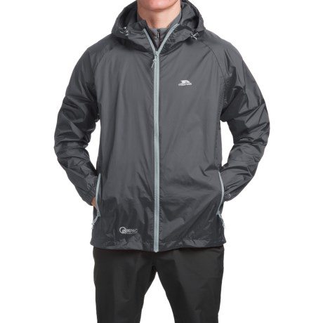 Trespass Qikpac Jacket - Waterproof (For Men and Women) in Flint
