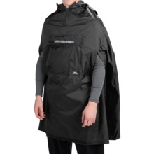 Trespass Qikpac® Packaway Rain Poncho - Waterproof (For Men and Women) in Black - Closeouts
