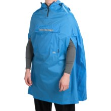 Trespass Qikpac® Packaway Rain Poncho - Waterproof (For Men and Women) in Cobalt - Closeouts