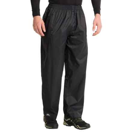 Trespass Qikpac Pants - Waterproof (For Men and Women) in Black - Closeouts