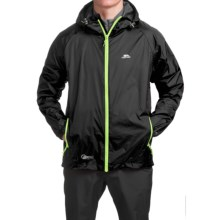 Trespass Qikpack Jacket - Waterproof (For Men and Women) in Black - Closeouts