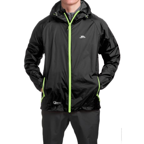 Trespass Qikpack Jacket - Waterproof (For Men and Women) in Black