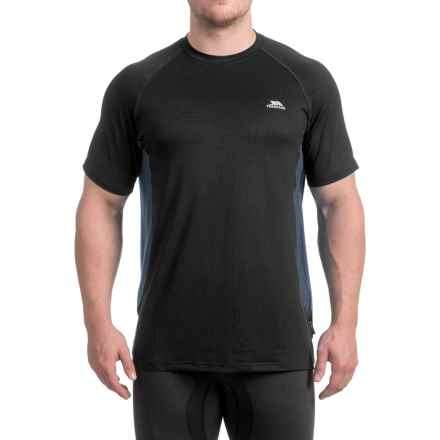 Trespass Reptia Quick Dry Shirt - Short Sleeve (For Men) in Black - Closeouts