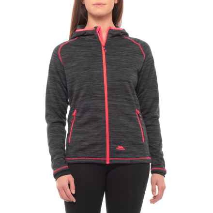 Trespass Riverstone Hooded Jacket - Full Zip (For Women) in Black Marl - Closeouts