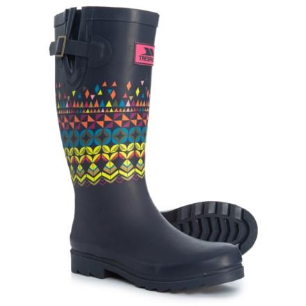 ef879a8b92d9 Trespass Samira Printed Rain Boots - Waterproof (For Women) in Ink  Geometric - Closeouts