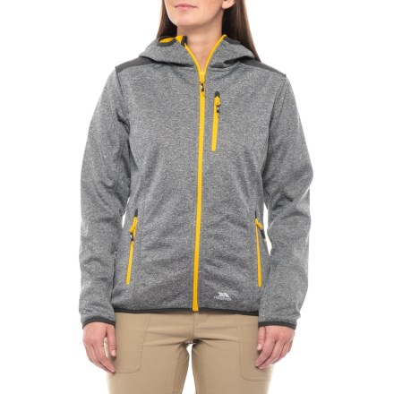 Trespass Siggy Soft Shell Jacket - Hooded (For Women) in Grey Marl -  Closeouts 0aecab71a