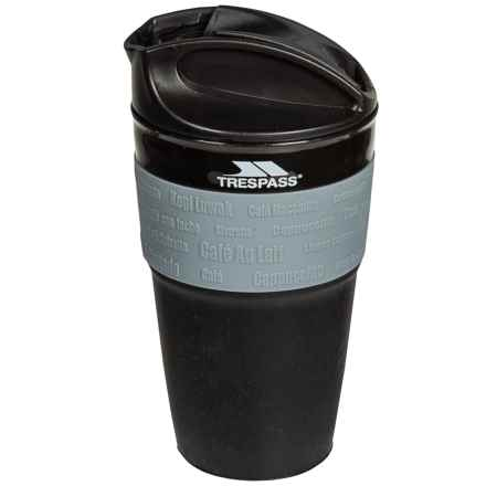 Trespass Silicone Drinks Cup - 12 oz., Collapsible in Black - Closeouts