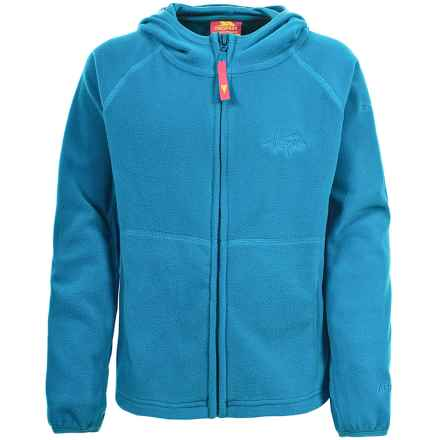 Trespass Snozzle Fleece Jacket - Full Zip (For Little and Big Girls) in Peacock - Closeouts