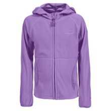 Trespass Snozzle Fleece Jacket - Full Zip (For Little and Big Girls) in Viola - Closeouts