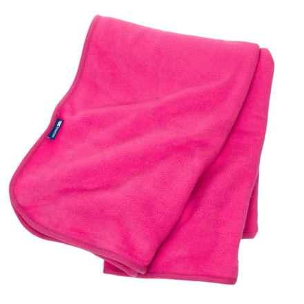 Trespass Snuggles Fleece Blanket in Cerise - Closeouts