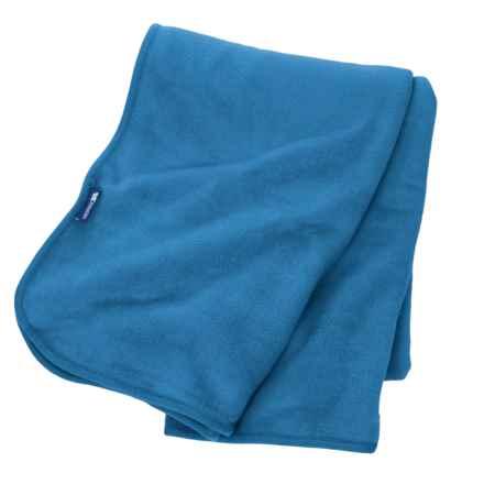 Trespass Snuggles Fleece Blanket in Cobalt - Closeouts