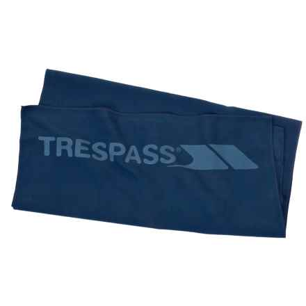 "Trespass Soaked Antibacterial Sports Towel - 18x35"" in Navy Blue - Closeouts"