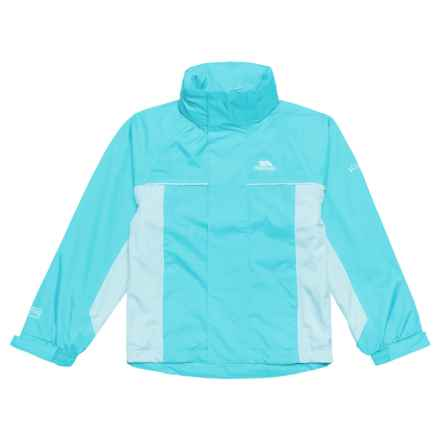 Trespass Sooki Rainwear Jacket - Waterproof (For Little and Big Girls) in Pool Blue - Closeouts