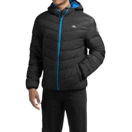 Trespass Stormer Down Ski Jacket - 500 Fill Power (For Men) in Black - Closeouts