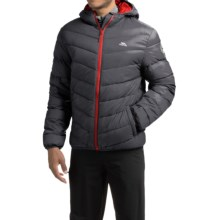 Trespass Stormer Down Ski Jacket - 500 Fill Power (For Men) in Flint - Closeouts