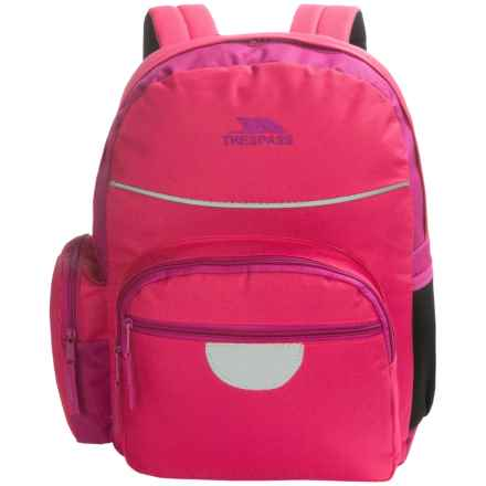 Trespass Swagger School Backpack (For Kids) in Magenta - Closeouts