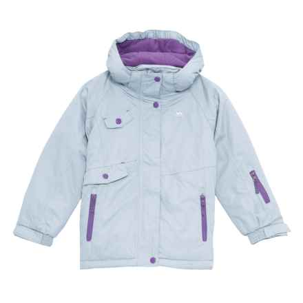Trespass Verla Ski Jacket - Waterproof, Insulated (For Little and Big Girls) in Powder Blue - Closeouts