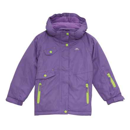 Trespass Verla Ski Jacket - Waterproof, Insulated (For Little and Big Girls) in Viola - Closeouts