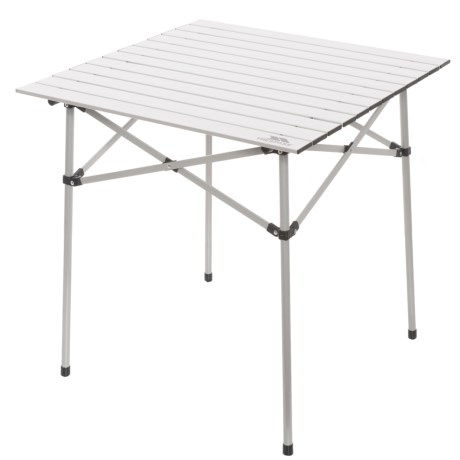 Etonnant Trespass Xylo Roll Top Camping Table In Silver