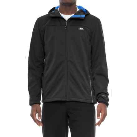 Trespass Zeek Soft Shell Jacket - Waterproof (For Men) in Black - Closeouts