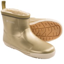 Tretorn Skerry Spritz Metallic V Rubber Boots - Waterproof, Faux-Fur Lined (For Women) in Gold - Closeouts